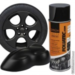 Mat zwarte verwijderbare folie spray. Spuitbus a 400 ml