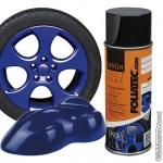 Spuitbus verwijderbare mat-blauwe folie spray. Inhoud 400 ml