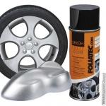 Spuitbus verwijderbare mat-zilveren folie spray. Inhoud 400 ml