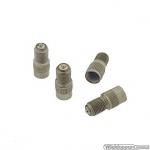 Ventielverlengers 13 mm metaal met schroefdraad set a 4 stuks