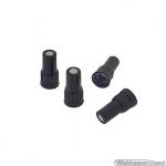 Ventielverlengers 13 mm zwart kunststof set a 4 stuks