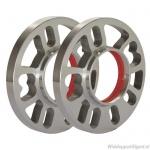 Spoorverbreders-Spacers 2 x 12 mm 24 mm per as. Voor 4- en 5 gaats velgen vanaf steek 4x98 met een asgat van 73,1mm