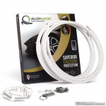 AlloyGator Exclusive WIT kunststof velgbeschermer. Set a 4 stuks voor velgen van 12 tm 24 inch