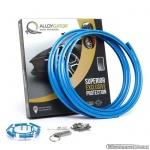AlloyGator Exclusive SKY BLAUW kunststof velgbeschermer. Set a 4 stuks voor velgen van 12 tm 24 inch