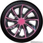 Wieldoppen set QUAD BP in pink met satijn zwarte accenten van 13 inch t/m 15 inch