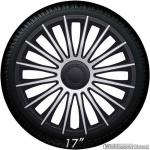 Wieldoppen set AUSTIN GTS in zilver-zwart van 13 inch t/m 17 inch