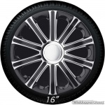 Wieldoppen set MODENA GTS in zilver-zwart van 13 inch t/m 16 inch