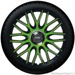 Wieldoppen set ORDEN MONSTER in zwart-groen van 14 inch t/m 16 inch
