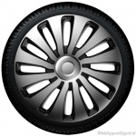 Wieldoppen set SEPANG GTS in zilver-zwart van 13 inch t/m 17 inch