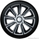 Wieldoppen set VERONIQUE-SB in zilver carbon look-zwart van 13 inch t/m 16 inch