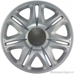 LOSSE wieldop NASCAR S in zilver en antraciet center van 13 inch t/m 16 inch