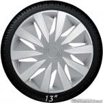 Wieldoppen set LAZIO-CLS in zilver carbon look van 13 inch t/m 16 inch