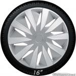 Wieldoppen set LAZIO-CLS in zilver carbon look van 14 inch t/m 16 inch