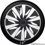 Wieldoppen set LAZIO-CTS in zilver carbon look-zwart van 14 inch t/m 16 inch