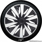 Wieldoppen set LAZIO-CTS in zilver carbon look-zwart van 13 inch t/m 16 inch