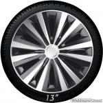Wieldoppen set MULTI GTS in zilver-zwart van 13 inch t/m 16 inch