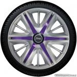Wieldoppen set MAXIM SVS in zilver met violette spaken van 13 inch t/m 16 inch