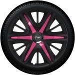 Wieldoppen set MAXIM BPS in satijn zwart en pink spaken van 13 inch t/m 16 inch