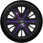 Wieldoppen set MAXIM BVS in satijn zwart en violette spaken van 13 inch t/m 16 inch