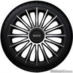 Wieldoppen set SPARCO TORINO ARGENTO-NERO in zilver-zwart 13 inch t/m 16 inch