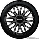 Wieldoppen set SPARCO BARI GRIGIO-NERO in grijs-zwart 13 inch t/m 16 inch