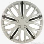 LOSSE wieldop VERMONT SB in zilver met 5 zwarte spaken in 15 inch tm 17 inch