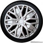 Wieldoppen set HAMPSHIRE S in zilver met chromen wielmoerkapjes in 15 inch en 16 inch