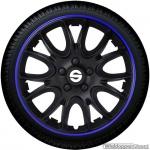 Wieldoppen set SPARCO VENETO NERO-BLU in zwart-blauw 13 inch t/m 16 inch