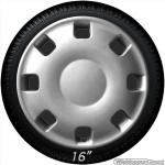 Bolle wieldoppen set VANITY-S NYLON in zilver van 14 inch t/m 16 inch