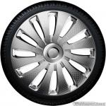 Wieldoppen set SEPANG CLS in zilver carbon-look van 13 inch t/m 17 inch