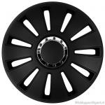LOSSE wieldop SILVERSTONE in zwart met chroom ring van 13 inch t/m 17 inch