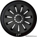 Wieldoppen set SILVERSTONE in zwart met chroom ring van 13 inch t/m 17 inch
