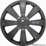 Wieldoppen set RS-T in antraciet met RS-T logo van 13 inch t/m 16 inch