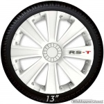 Wieldoppen set RS-T in wit met RS-T logo van 13 inch t/m 16 inch