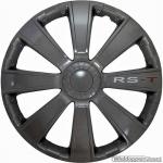 Wieldoppen set RS-T in antraciet met RS-T logo van 13 inch t/m 16 inch