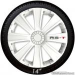 Wieldoppen set RS-T in wit met RS-T logo van 13 inch t/m 16 inch