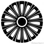 LOSSE wieldop LE MANS in zwart-zilver met chroom ring van 13 inch t/m 17 inch