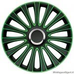 LOSSE wieldop LE MANS in zwart-groen met chroom ring van 13 inch t/m 17 inch