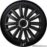 Wieldoppen set INTENSO in zwart met chroom ring van 13 inch t/m 16 inch