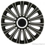 LOSSE wieldop LE MANS in zwart-wit met chroom ring van 13 inch t/m 17 inch