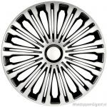 LOSSE wieldop VOLANTE in zilver-zwart met chroom ring van 13 inch t/m 17 inch
