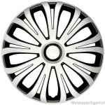 LOSSE wieldop AVERA in zilver-zwart met chroom ring van 13 inch t/m 16 inch