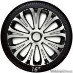 Wieldoppen set AVERA in zilver-zwart met chroom ring van 13 inch t/m 16 inch