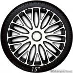 Wieldoppen set MUGELLO BIANCO in wit met satijn zwarte accenten van 13 inch t/m 16 inch