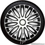 Wieldoppen set MUGELLO BIANCO in wit met satijn zwarte accenten van 13 inch t/m 17 inch