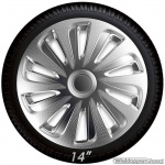 Wieldoppen set CALIBER S in zilver carbon look van 13 inch t/m 16 inch