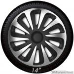 Wieldoppen set CALIBER SB in zilver carbon look-zwart van 13 inch t/m 16 inch
