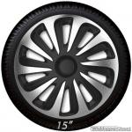 Wieldoppen set CALIBER SB in zilver carbon look-zwart van 13 inch t/m 17 inch