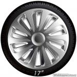 Wieldoppen set CALIBER S in zilver carbon look van 13 inch t/m 17 inch