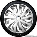 Wieldoppen set GRIP S in zilver met chroom ring van 13 inch t/m 16 inch
